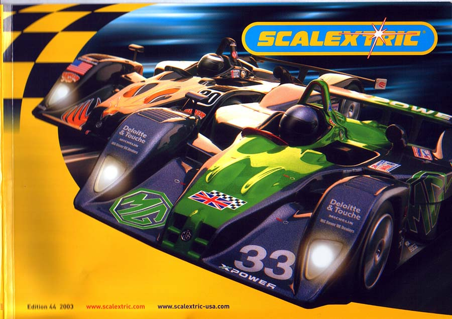 Couverture catalogue Scalextric 2003