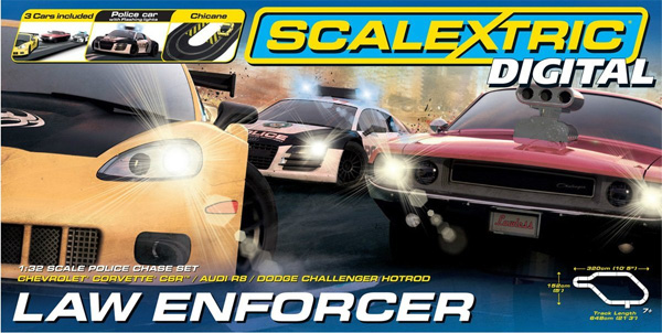 Scalextric - SCA1310P - Voiture de Circuit - Law Enforcer