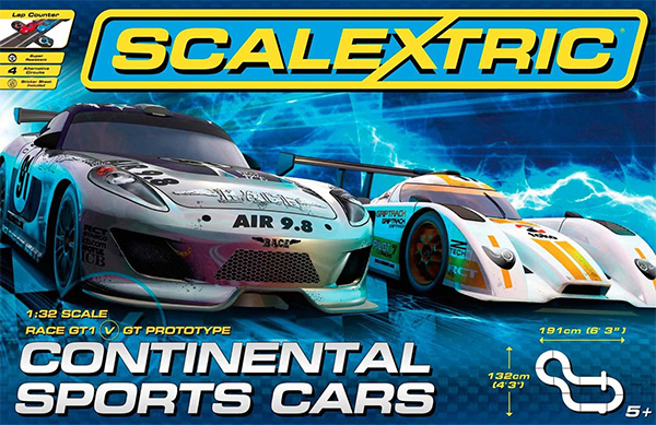 Scalextric - Sca1319p - Continental Sports Cars - Échelle 1/32