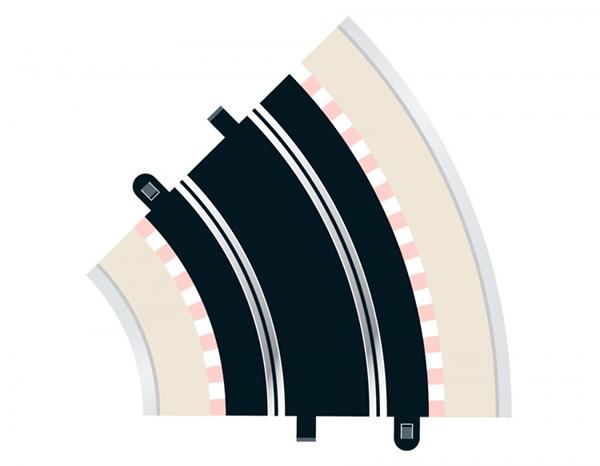 Radius 2 Curve 45° x 2